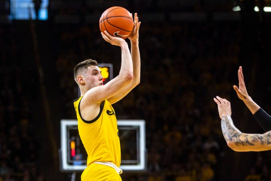 CJ Fredrick is making 46.7% of his 3-pointers as an Iowa freshman. He'll bring that talent back to the starting lineup Saturday after missing three games with a sprained ankle.