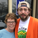 Indianapolis resident Margo Blair Harczynski caught up with Post Malone after the chart-topping musician dined Saturday at Olive Garden, 8155 E. Washington St.