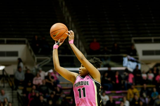 Purdue guard Dominique Oden (11) goes up for three during the third quarter of a NCAA women's basketball game, Sunday, Feb. 9, 2020 at Mackey Arena in West Lafayette.