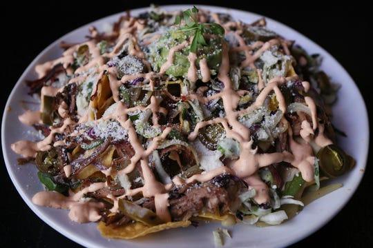 Smoked Brisket Nachos, at Noche Mexican BBQ, Feb 5, 2020.