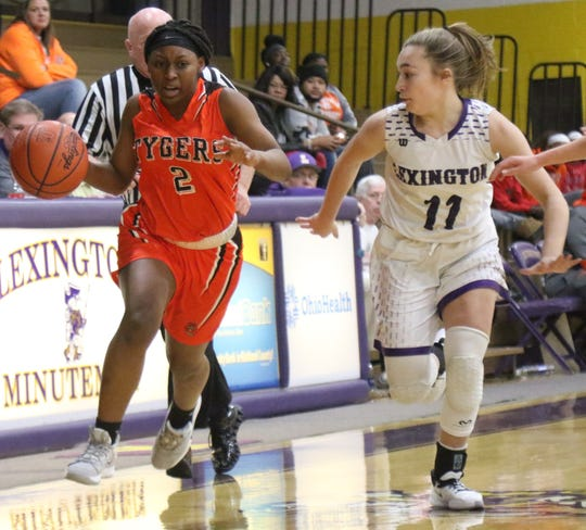 Mansfield Senior's Akira Johnson has the Lady Tygers at No. 10  in the Richland County Girls Basketball Power Poll.