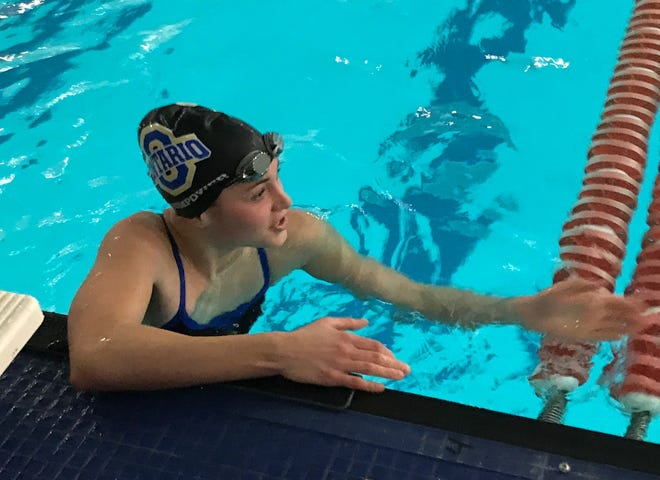 Ontario freshman Brienne Trumpower is seeded No. 1 in the 200 freestyle and No. 2 in the 100 free for Friday's Division II district swim meet at Bowling Green