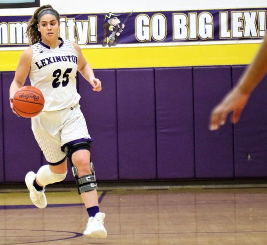 Lexington senior Gabby Stover returned from an ACL injury six months after it happened and led Lady Lex to the 2019-20 Ohio Cardinal Conference championship.