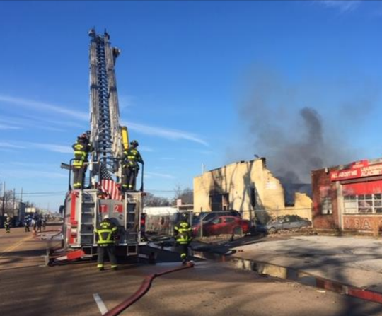Uptown Auto Repair, located at 1138 Thomas St., caught fire on. Feb 8, collecting an estimated $185,000 in total damages.