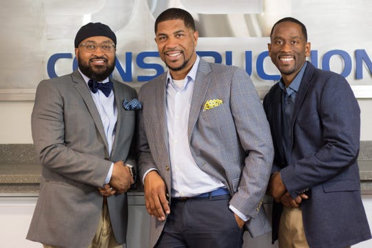 The founders of JCP Construction, from left, brothers Clifton, James and Jalin Phelps.