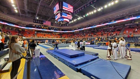 A look at Auburn Arena before a gymnastics meet against Kentucky on Friday, Feb. 7, 2020.