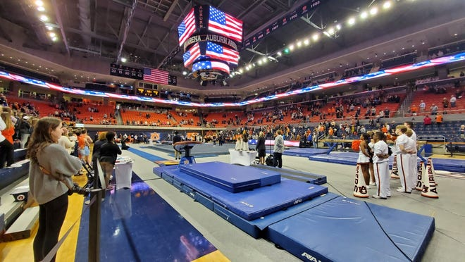 A look at Auburn Arena before a gymnastics meet against Kentucky on Friday, Feb. 7, 2020.