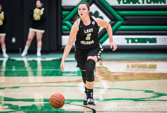 Winchester's Maddie Lawrence ends her career as Randolph County's all-time leading scorer and the Golden Falcons' all-time leader in points, rebounds and assists.