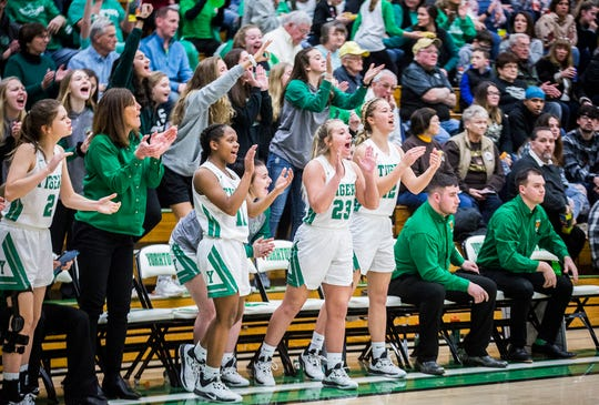 Winchester defeated Yorktown 69-32 during their sectional championship game at Yorktown High School Saturday, Feb. 8, 2020.