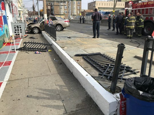 A broken railing from the previous car crash at the Mill Street Deli, that occurred on Jan.19, according to an employee.