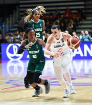 Former Arizona State guard Promise Amukamara helped Nigeria women's basketball qualify for the Tokyo Olympics at a tournament ending Sunday in Serbia.