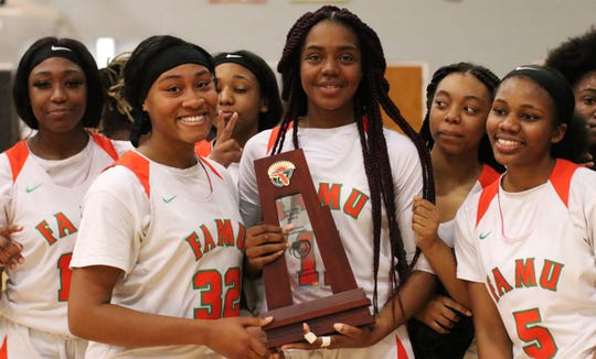 FAMU DRS' girls basketball team beat NFC 59-22 in the District 1-2A final on Feb. 8, 2020.