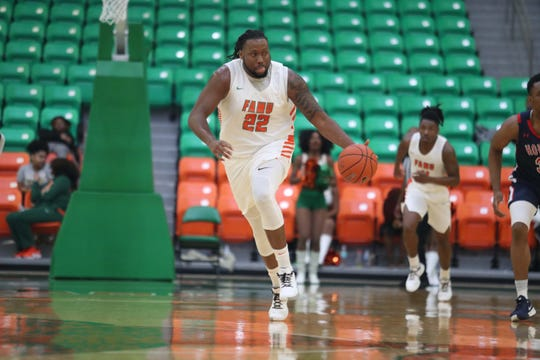 FAMU center Evins Desir tied a career high with 18 points in an 82-78 win in overtime against Howard on Saturday, Feb. 8, 2020.