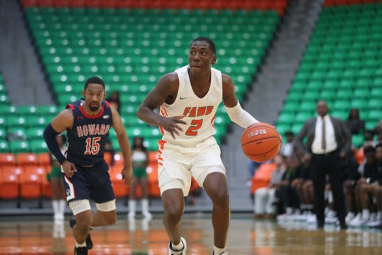 FAMU guard Kamron Reaves scored 15 points and was 6 of 6 from the foul line to defeat Howard 82-78 in overtime on Saturday, Feb. 8, 2020.