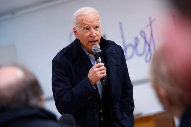 Former Vice President Joe Biden in Manchester, New Hampshire, on Feb. 6, 2020.