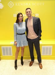 """Former """"Bachelor"""" and """"Bachelorette"""" leads Ben Higgins and Becca Kufrin explain the concept of """"Bachelor Live on Stage."""