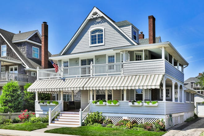 The home at 512 East Avenue in Bay Head embodies classic style.