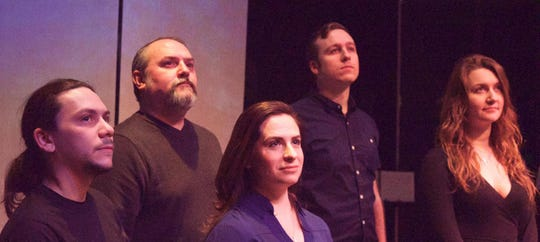 "The cast of the Endicott Performing Arts Center's production of ""Songs for a New World"" features, from left, Christopher DaCosta, Dustin VanTassel, Lorraine Bennett, Vito Longo and Madyson Paige."