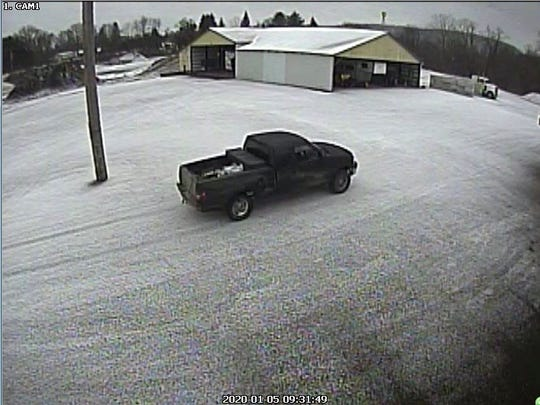 New York State Police are looking for this truck and the owner, as it's believed to have been used in a burglary in Tioga last month.