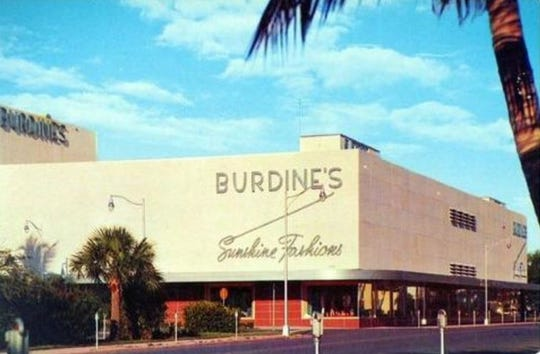 When William S. Burdine's Polk County citrus crop was wiped out by the 1895 freeze, he and a partner opened a dry goods store in Bartow. In 1896, Burdine bought out his partner and sent his son, John, to the tiny fishing village of Miami. The Burdines moved their operations to Miami in 1898.