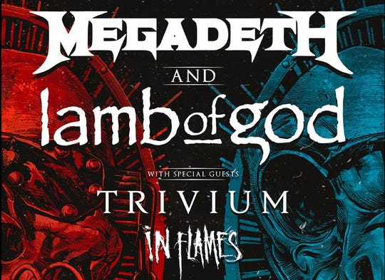 """Megadeth and Lamb of God will perform at the American Bank Center Arena on October 9, as part oftheir2020 """"Metal Tour of the Year"""" across North America."""
