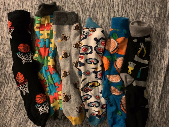 A sample of GCIT senior Josh Randall's sock collection.