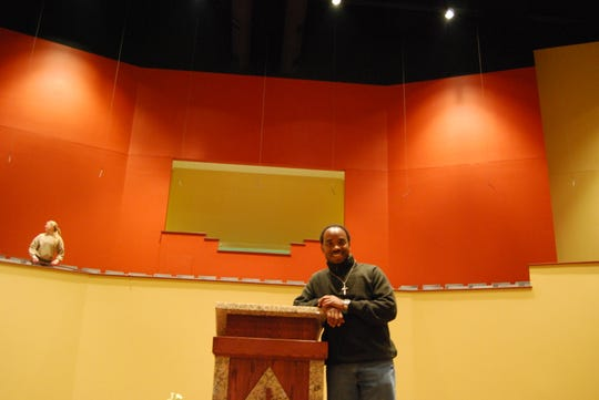 Bishop Victor Couzens in 2009 at the new building for Inspirational Baptist Church in Forest Park. The move was the congregation's in less than 10 years. The congregation then was about 3,500 strong.