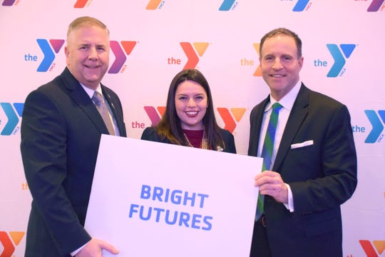 (Left to right)Somerset County Freeholder Brian Gallagher; Somerset County Freeholder Deputy Director Sara Sooy; and Greater Somerset County YMCA President and CEO David M. Carcieri.
