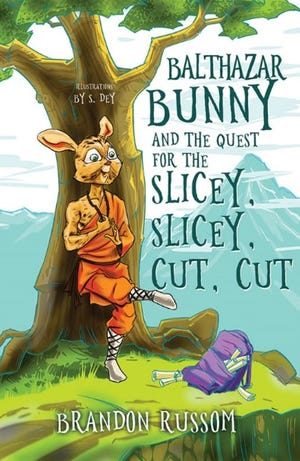 "Altoona author Brandon Russom is introducing his debut children's book, the adventure story ,""Balthazar Bunny and the Quest for the Slicey, Slicey, Cut, Cut."""