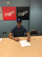 Mike Mokma signed with the Los Angeles Dodgers in 2019.
