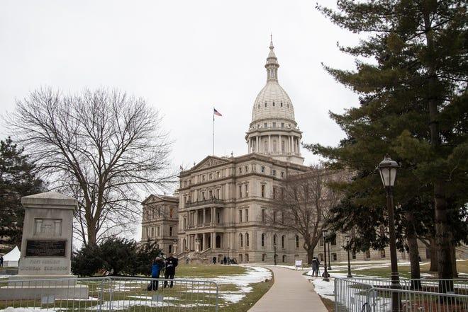 Michigan State Capitol building in Lansing, Wednesday, Jan. 29, 2020.