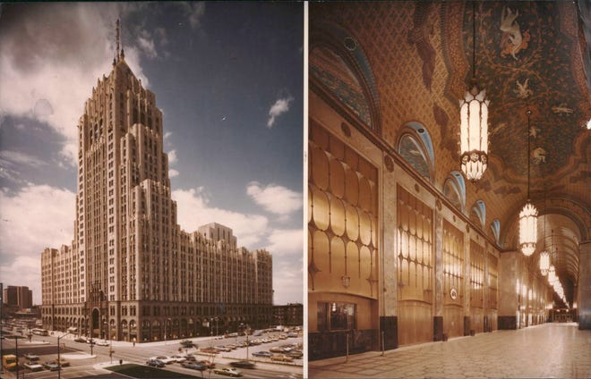 The Fisher Building and Theatre complex in the New Center area of Detroit, Michigan.