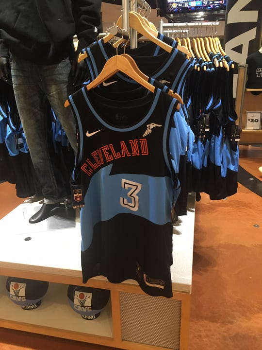 Replicas of the throwback-styled jersey Andre Drummond wore in his Cavaliers debut were on sale in the team store at Rocket Mortgage FieldHouse in Cleveland on Sunday night.