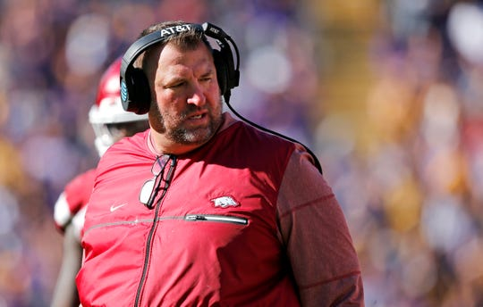 Bret Bielema coached at Arkansas from 2013-17.