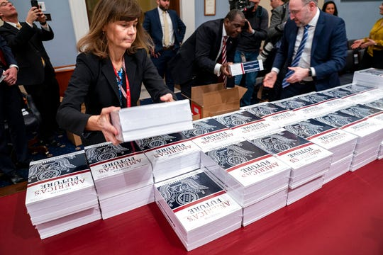 President Donald Trump's budget request for fiscal year 2021 arrives at the House Budget Committee on Capitol Hill in Washington, Monday, Feb. 10, 2020.