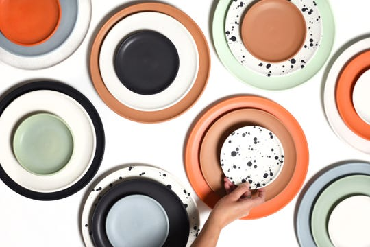 Corbé recently launched a dinnerware line. It comes in five different colors.