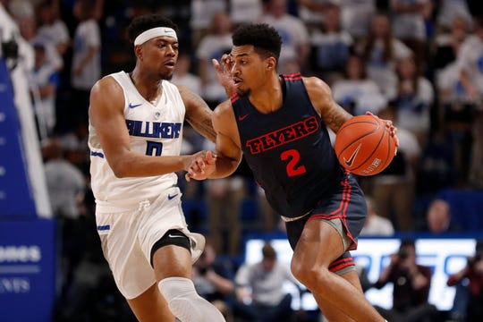 Ibi Watson (2) is Dayton's top reserve and third-leading scorer at 11.3 points per game. He spent his first two seasons at Michigan.