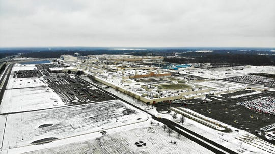 In this Nov. 28, 2018, file photo, snow covers the perimeter of the General Motors' Lordstown plant, in Lordstown, Ohio. The Trump administration's budget proposal scraps a loan program that could help an upstart electric vehicle company's plans to reuse the now-closed General Motors factory in Lordstown, Ohio.