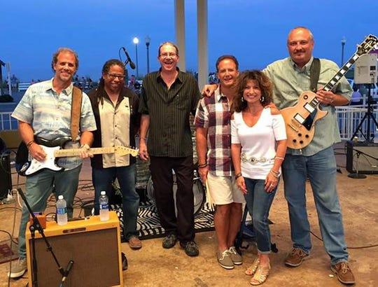 Members of the Bell Bottom Blues Band, from left: Al Caprara, Kendal Scott, Jon Huey Tatlow, Lou Caprara. Maria Adubato and John Kurdyla.