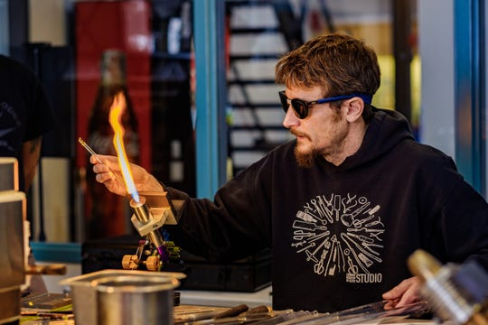Ithaca-based marble maker Miles Parker will give a live demonstration at the Corning Museum of Glass' Marvelous Marble Day on Sunday.
