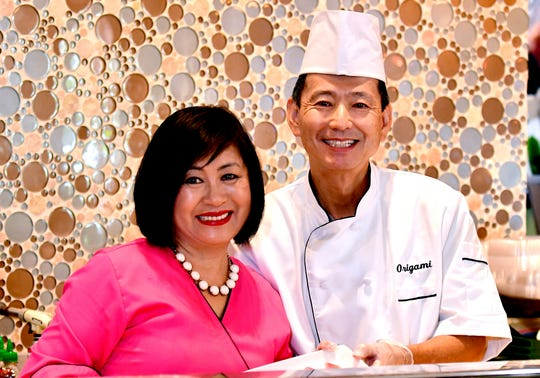 Chef Rosa Kim and her husband, Chef Atsunori Ichimura, blend their Korean and Japanese cultures at Origami in south Fort Myers.