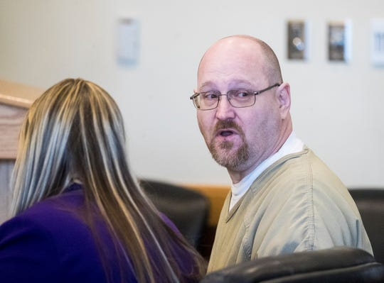 Curtis Wayne Wright turns to Mary Ann Groves, the mother of Teresa Sievers, to apologize during his sentencing hearing on Monday, Feb. 10, 2020. He was sentenced to 25 years for his role in her murder. He struck a deal with the state for his testimony. He was the main witness against Mark Sievers and Jimmy Ray Rodgers.