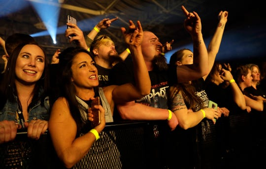 Fans cheer as Korn performs on Feb. 9 at the Resch Center. The arena hasn't hosted a concert since due to the coronavirus.