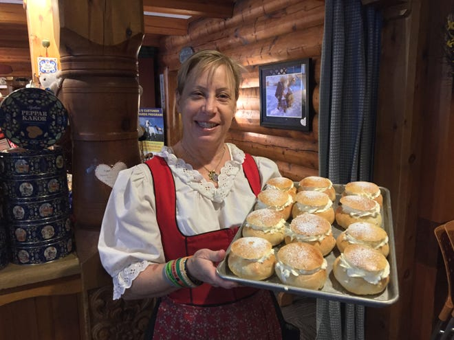 Available only on Fat Tuesday, Al Johnson's Swedish Restaurant & Butik in Sister Bay sells hundreds of semlor. The Swedish pastry was originally a treat reserved for the day before Ash Wednesday, but semla has become so popular that it is available soon after Christmas in Sweden.