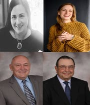 Candidates for southern Door County Board of Supervisors seats who spoke at a forum last week. Clockwise from top left: Lora Jorgensen (File Photo), Kara Counard (Photo by Duy Ho), current District 3 Supervisor Roy Englebert and District 4 Supervisor Jon Koch (Photos Courtesy of Door County Clerk).