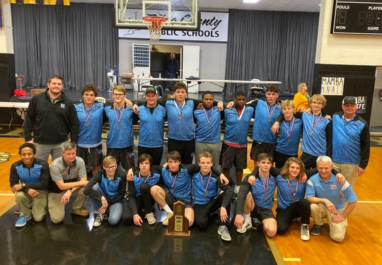Union County won the First Region wrestling championship Saturday at Trigg County High School. It was the 17th straight regional title for the Braves, who qualified 13 wrestlers for the KHSAA state tournament Friday and Saturday in Lexington.