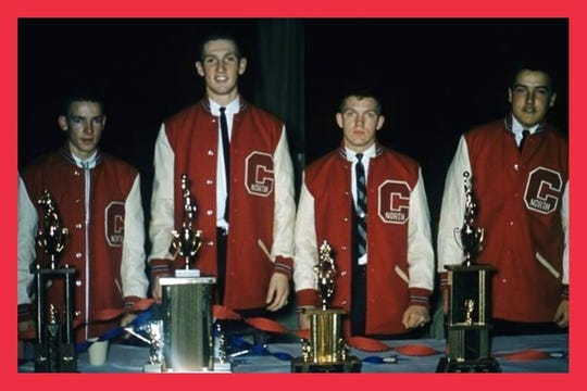 Lon Showley, second from left, with his senior teammates at North Caston High. The team was one of three that were undefeated in the state in 1962.
