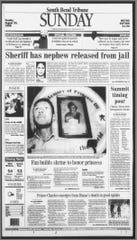 Front page of the Aug. 30, 1998, South Bend Tribune