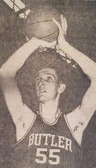 Lon Showley at Butler his senior year in 1966.