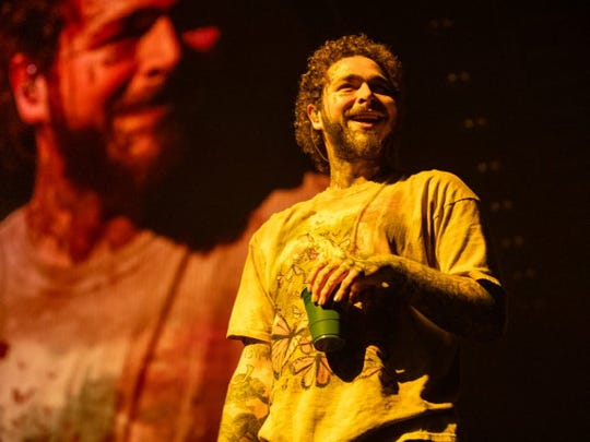 Post Malone performs Sunday, Feb. 9, at Bankers Life Fieldhouse.